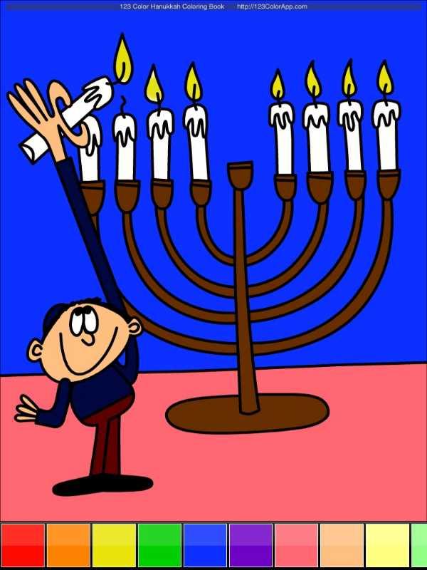 123 Color Hanukkah Coloring Book >> 123 Color: Hanukkah Coloring Book Review - TechWithKids.com
